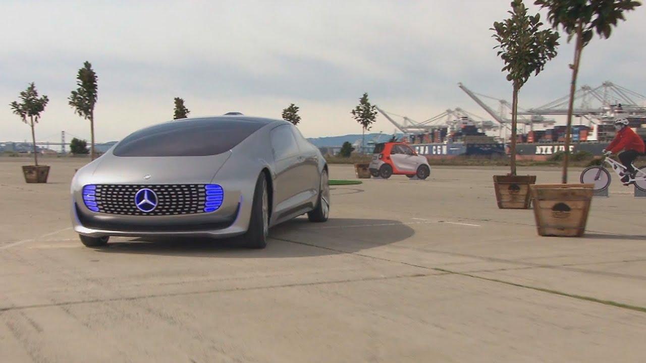 Sun Motors editor Rob Gill tests Mercedes F 015 driverless car