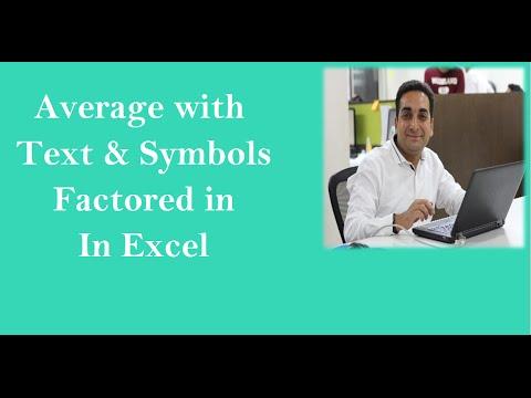 AverageA Formula In Excel