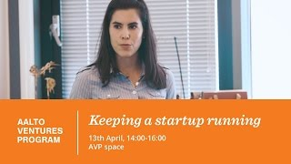 On line invoicing  (Zervant) / Keeping a startup running 13 04 2016