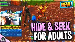 Fortnite Strippers Play HIDE & SEEK CUSTOM GAMES