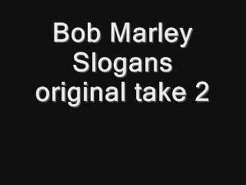 bob marley slogans original version