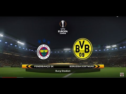PES 2018 (PS4) Europa League Borussia Dortmund v Fenerbahce Group stage Game 1