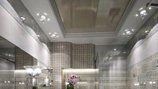 видео Матовый натяжной потолок в ванной цена в Москве. Купить глянцевый потолок