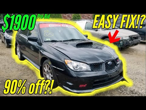 Copart: Found A Cheap Subaru WRX STI And MK5 VW Golf R32 To Buy Inspired By Samcrac