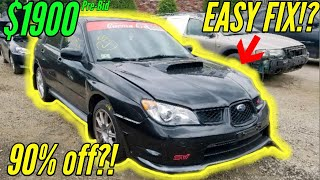 Download Copart: Found a cheap Subaru WRX STI and MK5 VW Golf R32 to buy inspired by Samcrac Mp3 and Videos