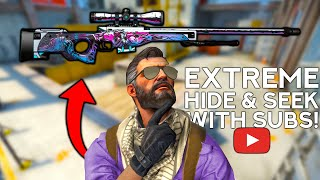 EXTREME HIDE & SEEK WITH CS:GO SKINS #3! (SUBSCRIBER EDITION)