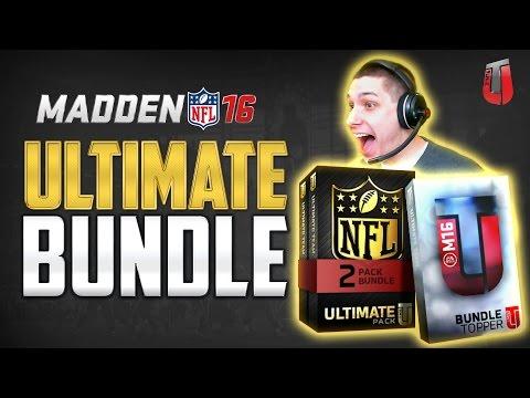 ULTIMATE PACK BUNDLE OPENING! Rod Woodson and Marshall Faulk! MUT 16 Ultimate Bundle!
