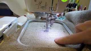 How To Make A Placemat From Burlap: Eco-friendly Machine Embroidery Project!