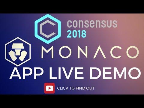 MONACO APP 2018 LIVE WALLET DEMO - CONSENSUS (2018)  📱