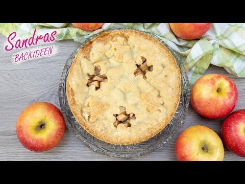 gedeckter Apfelkuchen - lecker und saftig | Apple Pie | einfaches Rezept für 20 und 26 cm Springform