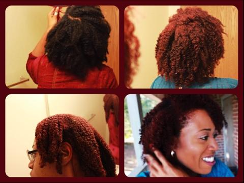 RED HEAD| I DYED MY HAIR: Shea Moisture Hair Color System: BRIGHT AUBURN