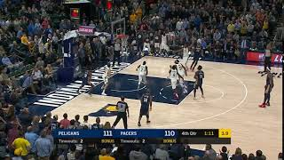 Anthony Davis turnaround teardrop on Thaddeus Young