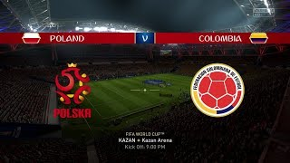 2018 FIFA World Cup Russia - Poland vs Colombia (Full Gameplay)