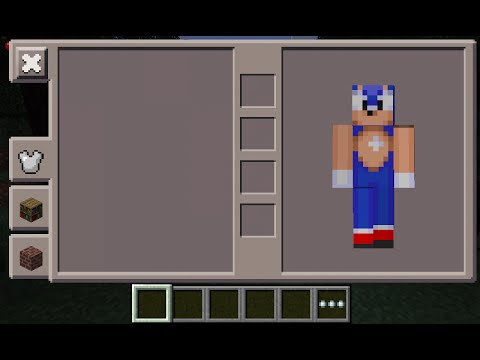 Minecraft PE Sonic Skin Costume YouTube - Skins para o minecraft sonic
