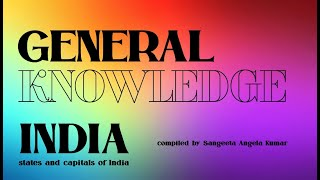 General Knowledge INDIA | states and capitals | question and answers