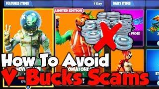 How To AVOID V-BUCKS SCAMS! - Fortnite VBucks Scams TAKE OVER The Internet