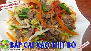 ✅ Đổi Bữa Với Món Thịt Bò Xào Bắp Cải Cà Rốt Thơm Ngon Không Ngán | Hồn Việt Food