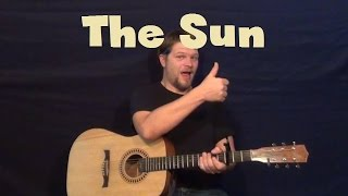 The Sun (Maroon 5) Easy Strum Guitar Lesson Chords Lead Jam How to Play Tutorial