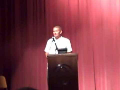 Gabriel Thompson speaks at Joliet West