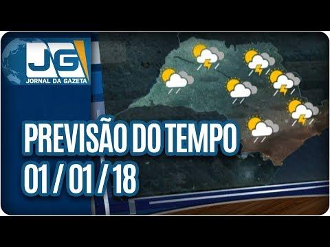Previsão do Tempo - 01/01/2018