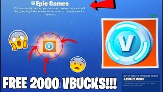 How To Get 2000 FREE VBUCKS in Fortnite *NOT CLICKBAIT* Fortnite just did this! ✔