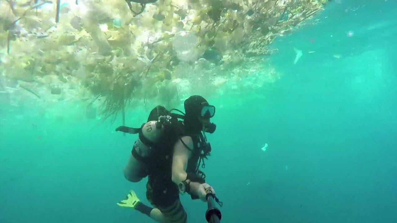 Waste Waters Plastic Trash Chokes Bali S Sea Youtube