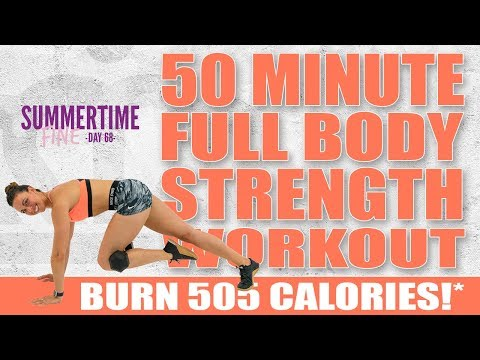 50 Minute FULL BODY STRENGTH WORKOUT!🔥Burn 505 Calories!*🔥Sydney Cummings