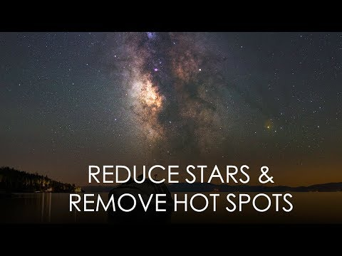 Reduce Stars and Remove Hot Pixels using Photoshop Dust & Scratches