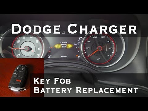 How To Change Battery Dodge Charger Key Fob Diy Disassembly