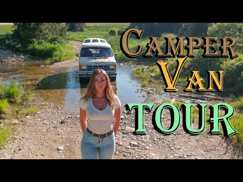 80's Vintage CAMPER VAN TOUR - VANLIFE