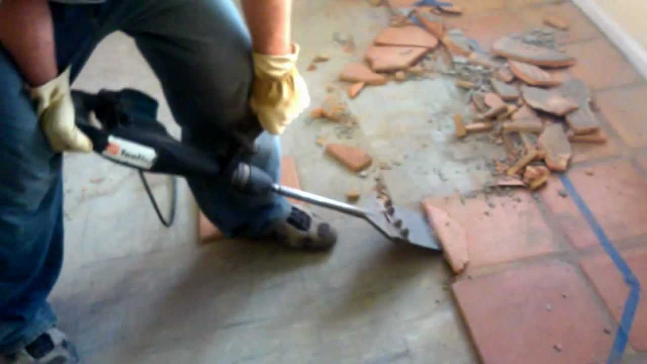 How To Remove Kitchen Tiles Removing Saltillo Tile Youtube