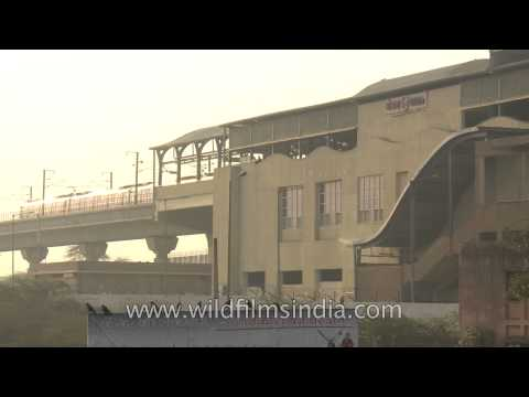 Okhla metro station as seen from Vegetable market place