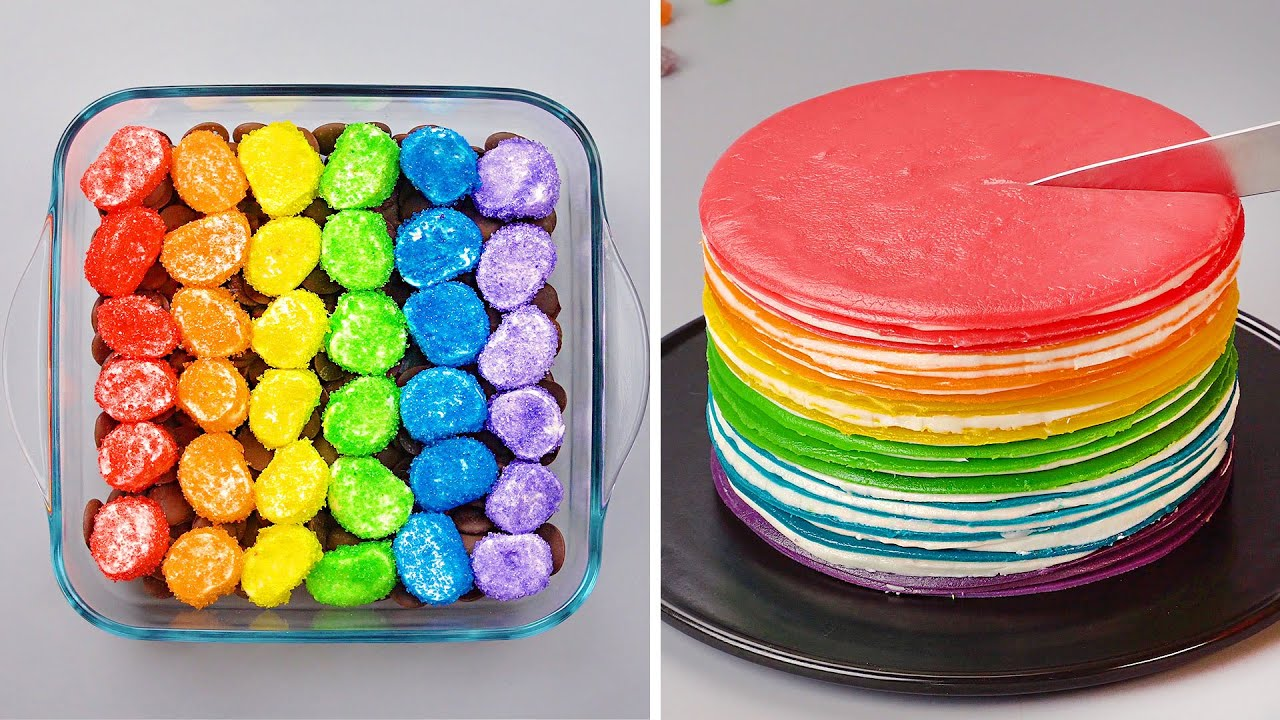 Quick and Easy Rainbow Cake Recipes | Awesome DIY Homemade Dessert Ideas For A Weekend Party! #4