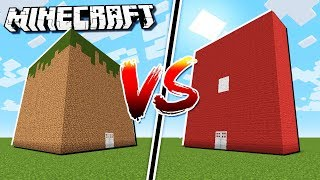 MINECRAFT HOUSE vs. ROBLOX HOUSE in Minecraft!