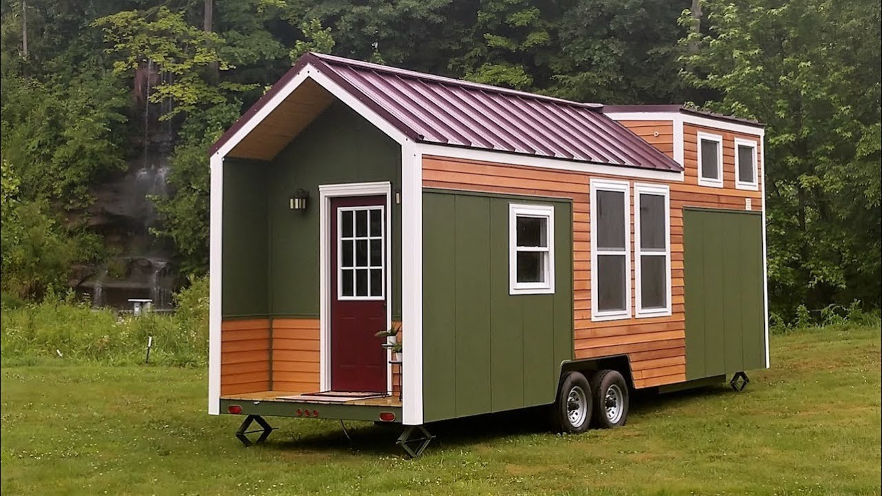 Beautiful Tiny Home Built For Cheap Living Youtube