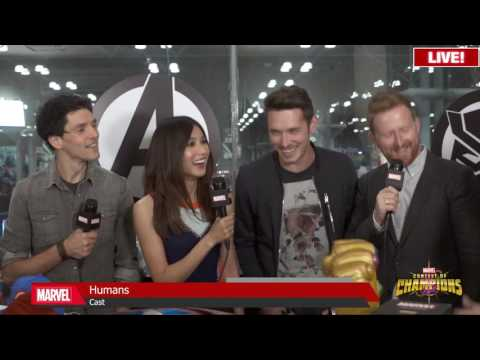 Humans Cast with Marvel LIVE! at New York Comic Con 2016 Colin Morgan, Gemma Chan