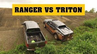 [Terocket] - So sánh Ford Ranger 2017 và Mitsubishi Triton 2017 thử tài với dốc trơn 35 độ