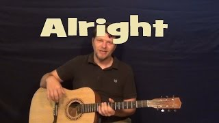 Alright (Pilot Speed) Easy Guitar Lesson How to Play Tutorial