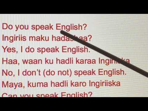 LEARN BASIC ENGLISH I BARO SIDA AAD QOFKA ULA HADLI LAYED#3