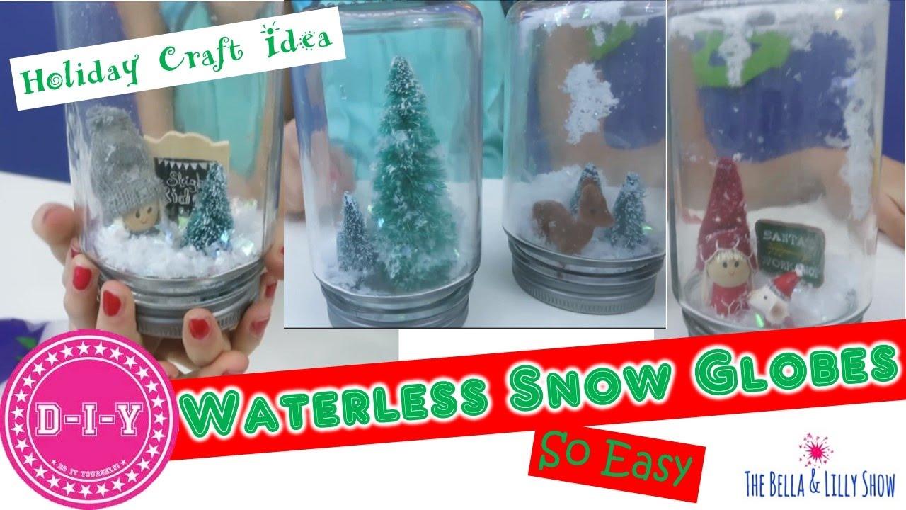 Diy Waterless Snow Globes Step By