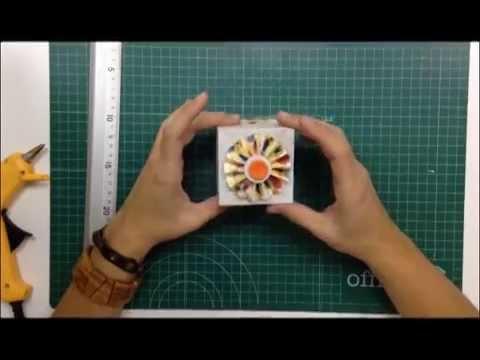 C mo hacer una caja de cart n con una flor acorde n para - Como hacer una caja de carton ...