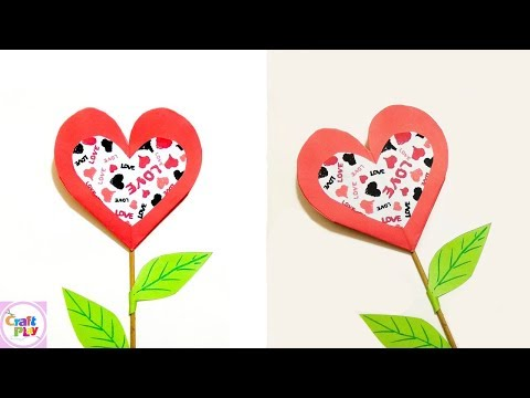 DIY Craft | Flower Pop-Up card (on a stick) very easy