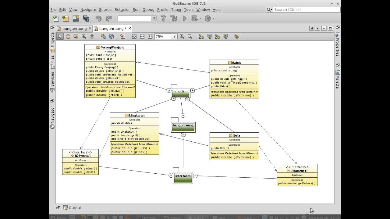 Java Netbeans Uml Part 1 Auto Generate Reusable Java Code From Uml Class Diagram Youtube