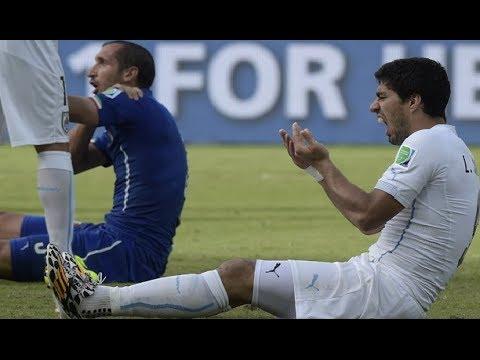 WOW!! LUIS SUAREZ Bites Giorgio Chiellini Italy vs Uruguay