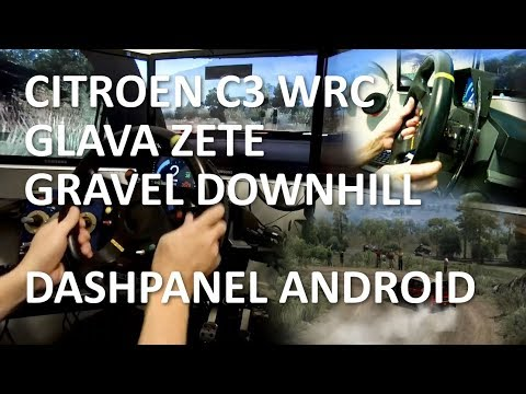 Glava Zete Gravel Downhill, Citroen C3 WRC, DashPanel for Android, Assetto Corsa