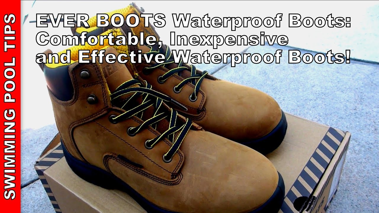 "EVER BOOTS ""Ultra Dry"" Men's Premium Leather Waterproof ..."
