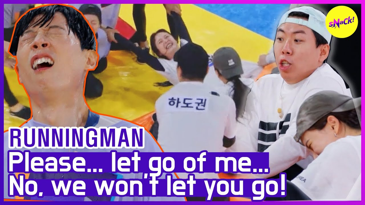 """[HOT CLIPS] [RUNNINGMAN] """"SOMIN, do you made  of Rubber?""""😂 Chaotic Water Battle.🏊♀️ (ENG SUB)"""