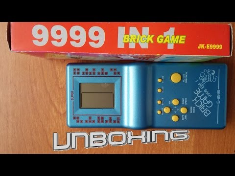 Brick Game 9999 in 1 unboxing and gameplay