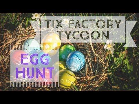 Tix Factory Tycoon Roblox Bunker Code Tix Factory Tycoon Egg Hunts Youtube