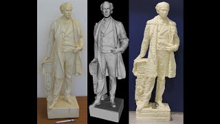 3D Printing : Life-Size Foam statue of Sir Wilfrid Laurier